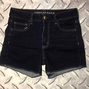 American eagle hi rise Shortie Jean shorts